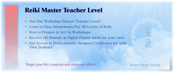 reiki master teacher level